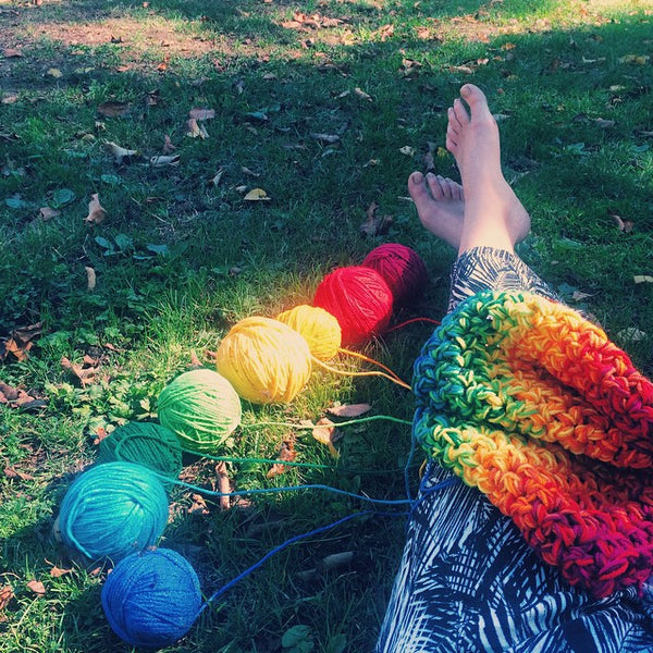 Ultimate Double Rainbow Circle Scarf