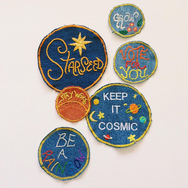 Keep it Cosmic Large Embroidered Patch