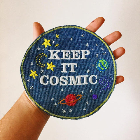KEEP IT COSMIC 2.0 Embroidered Denim Patch
