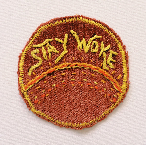 Stay Woke Hand Stitched Patch