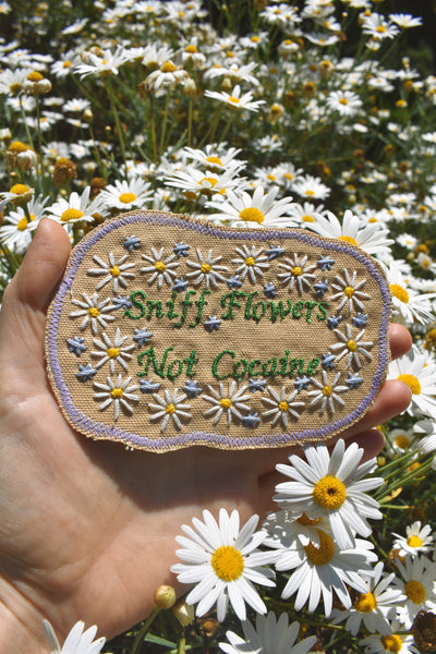 Sound Advice. Handmade Embroidered Patch - Free Shipping