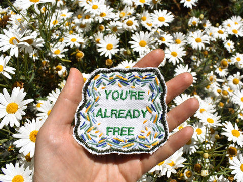 Remember Your Freedom! Embroidered Patch. Free Shipping