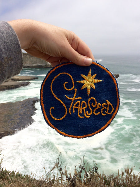 Starseed Embroidered Patch on Vintage Denim