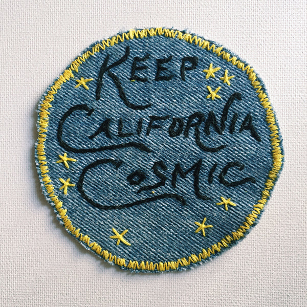 Keep California Cosmic! Hand-Stitched Denim Patch