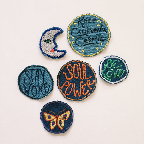SOUL POWER Hand-Stitched Denim Patch