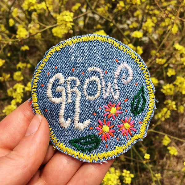 GROW Hand Stitched Patch