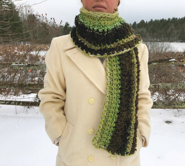 Super Extra Long Scarf. Return to My Trees. One of a Kind and Ready to Ship!