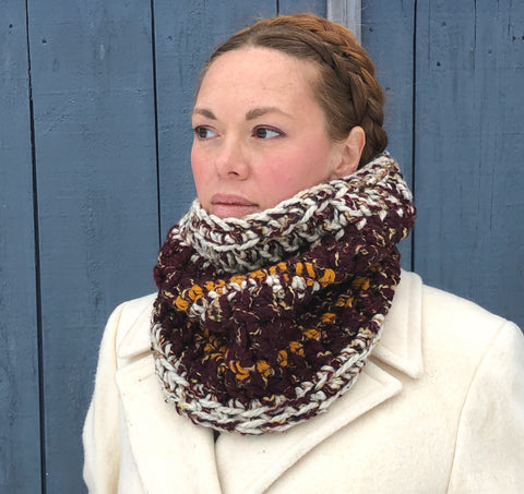 Chunky Cowl Scarf. One of a Kind. Ready to Ship