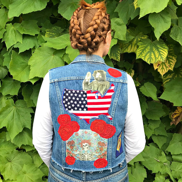Jerry Garcia For America. Vintage Denim Vest