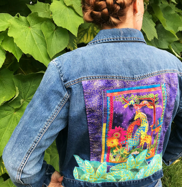 Laurel Burch Art Jacket. Celestial Safari. One of a Kind.