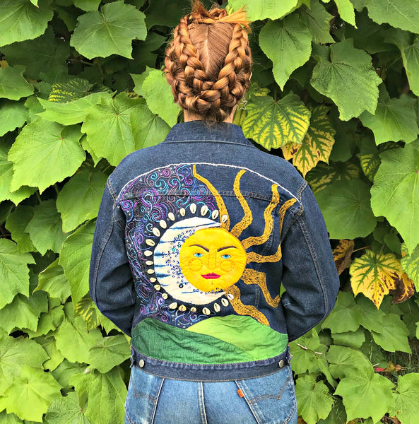 Under A Firmament. Celestial Mixed Media Art Jacket
