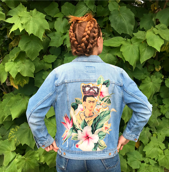 Tropical Frida Kahlo Jean Jacket