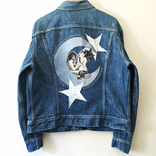Michael in the Stars. Cosmic MJ Totem Denim Jacket