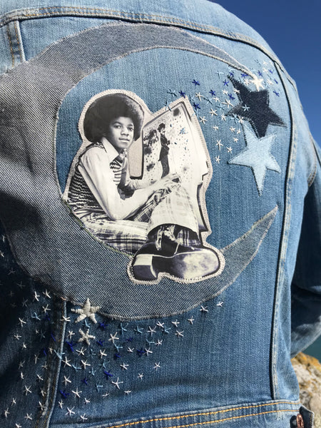 MJ in the Stars. Cosmic Michael Jackson Totem Denim Jacket