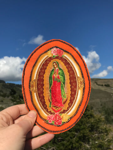 Our Lady of Guadalupe. Handmade Appliqué Canvas Patch