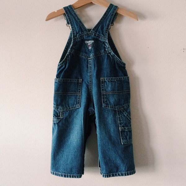 Cosmic Garden Baby Size Embroidered Denim Overalls. One of a kind. Free Shipping