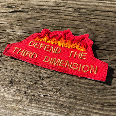 Dimensional Defense Department. Hand Embroidered Canvas Patch
