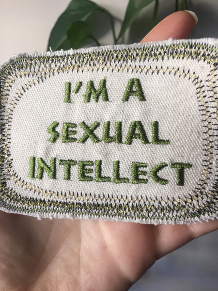 Sapiosexual Handmade Embroidered Canvas Patch