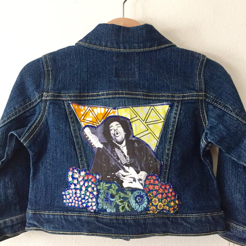 Jimi Hendrix Kids Applique Jean Jacket