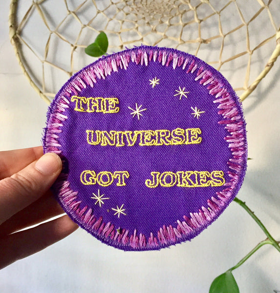 Universal Comedy - Handmade Embroidered Patch