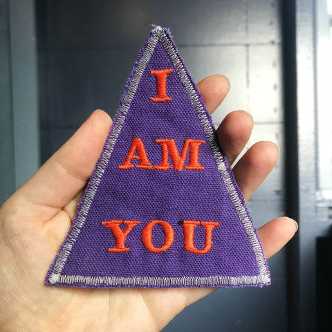 The Mirror. Handmade Embroidered Canvas Patch. One of a kind