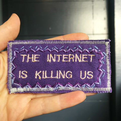 The Internet - Handmade Embroidered Canvas Patch