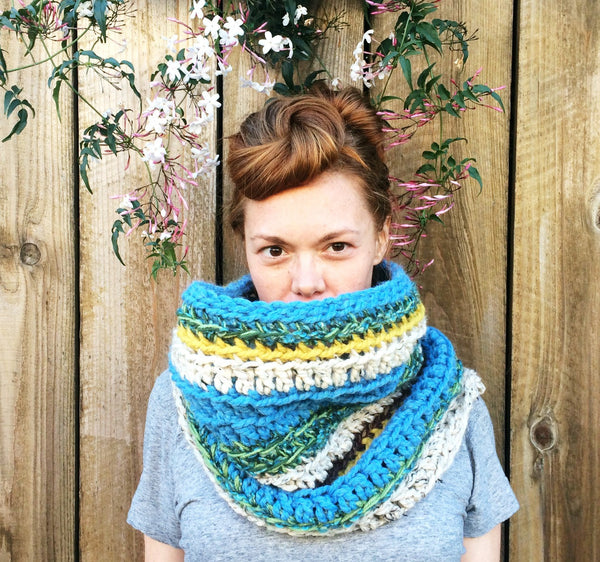 Bright Chunky Funky Neckwarmer Cowl