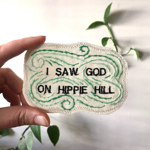 Hippie Hill. One of a Kind Patch
