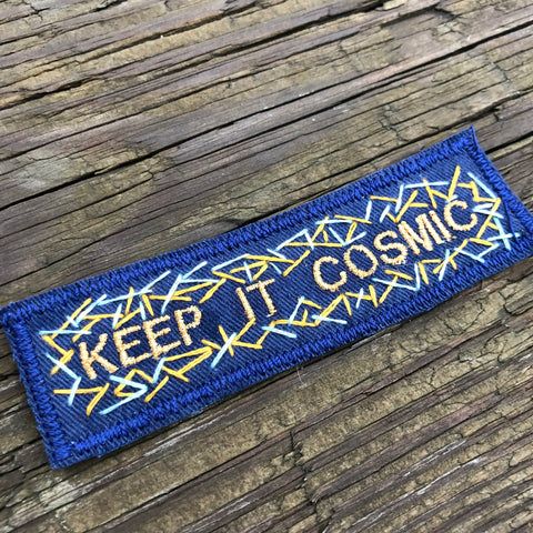 KEEP IT COSMIC Hand Embroidered Canvas Patch - Light
