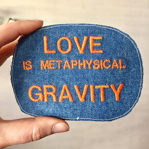 Metaphysical Gravity. Denim Patch