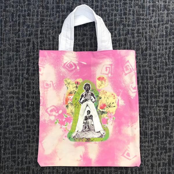 Jimi Hendrix Worship - Oversized Appliqué Recycled Canvas Tote