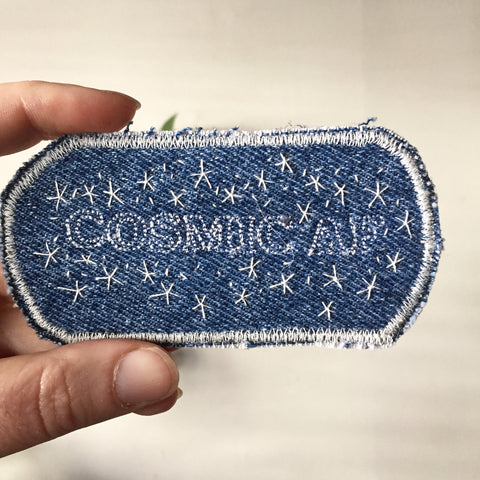 Cosmic AF. Handmade Denim Patch