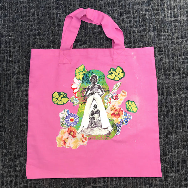 Jimi Hendrix Handmade Appliqué Canvas Bag Tote