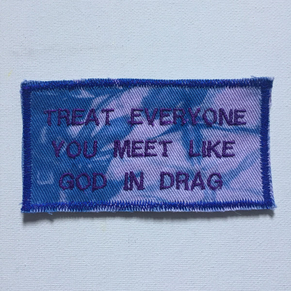 Ram Dass Quote. Handmade Embroidered Canvas Patch.