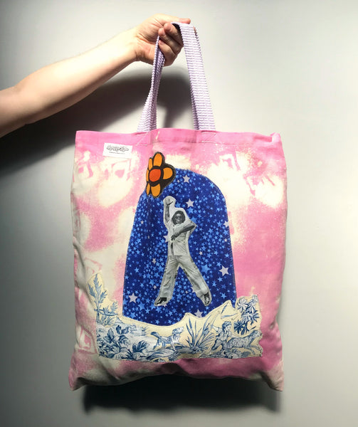 James Brown - Oversized Handmade Appliqué Canvas Tote