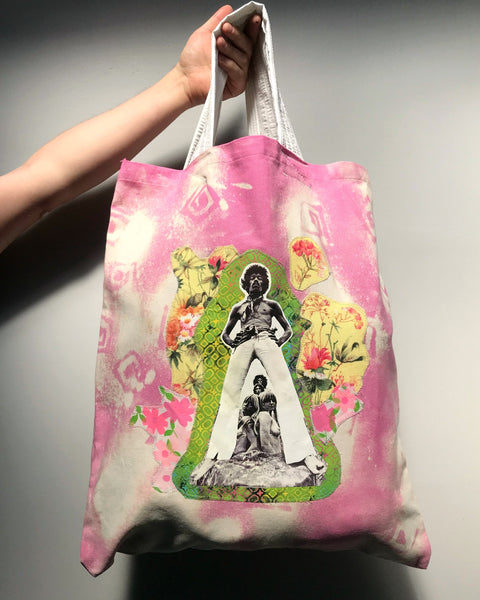 Jimi and the Gals - Oversized Appliqué Recycled Canvas Tote