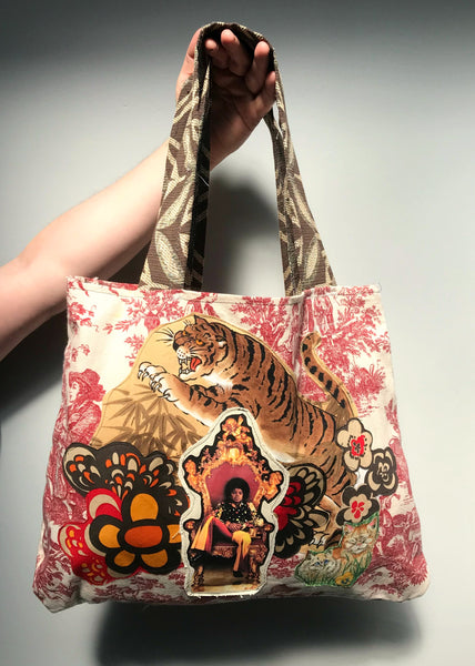 Michael Jackson - Handmade Appliqué Tote 100% Recycled Fabrics