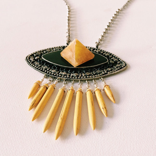 Pyramid Power Statement Necklace
