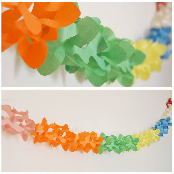 Lily Shaped Paper Garland - 12 Feet Long