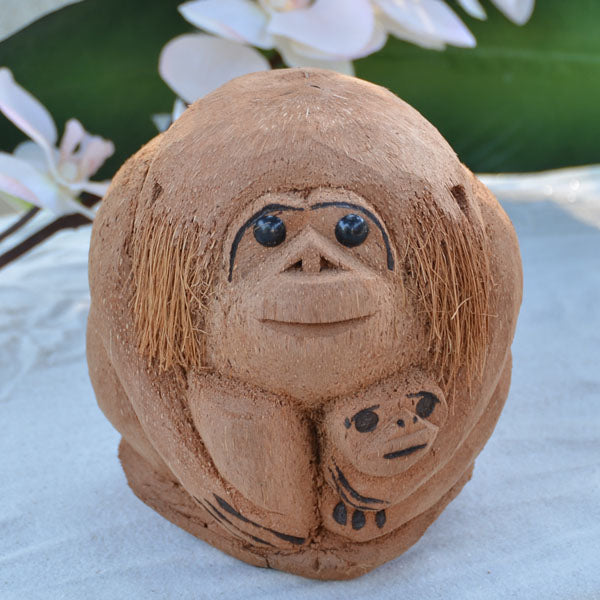 Coconut Monkey w/Baby