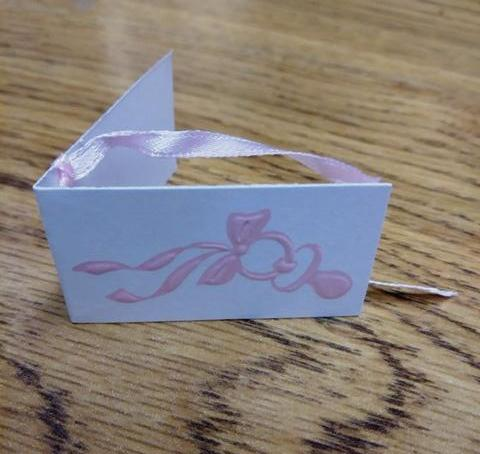 .Pink Pacifier Favor Tags