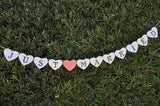 "Wedding Banner Garland - ""Just Married"" - Pearl White"