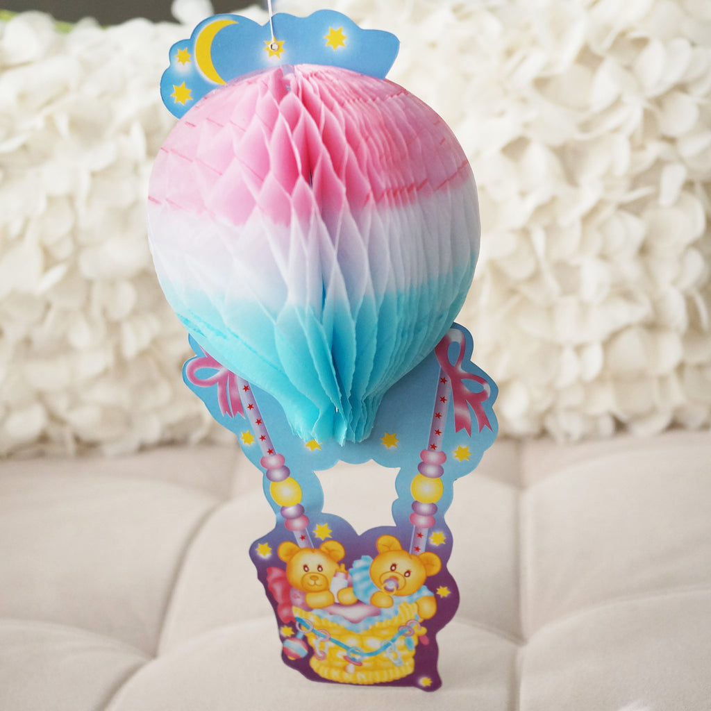 Honeycomb Hot Air Balloon Baby Shower Decoration