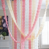 3D Four Leaf Flower Tissue Paper Hanging Streamers for All Party Events, Photo Garland Backdrop, 12-PACK ( Blush Peach, Ivory, White)
