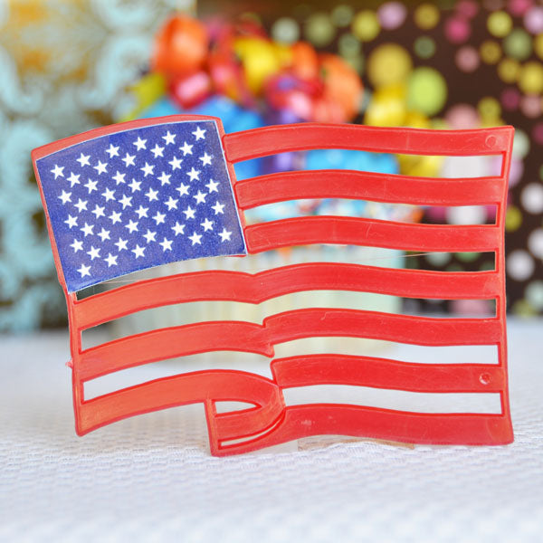 American Flag Plaque 4""