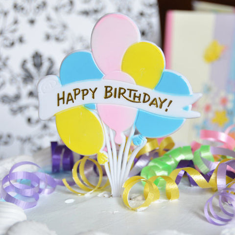 """Happy Birthday"" Balloon Pick 2ct"