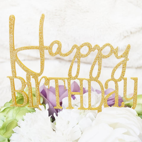 """Happy Birthday"" Cake Topper Pick"