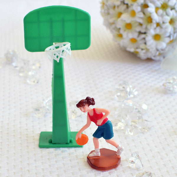 Basketball Player w/Hoop Set (Girl)