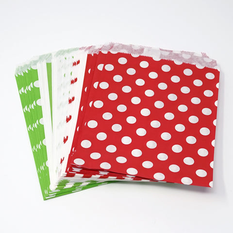 Candy, Favors & Treat Bags For All Parties 48ct Red, Green, White