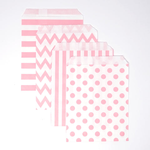 Candy, Favor & Treat Bags For All Parties 48ct Pink, White